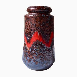 Vintage German Fat Lava Vase, 1960s