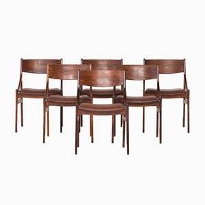 Palisander Esszimmerstühle von Vestervig Eriksen, 1960er, 6er Set