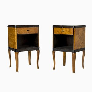 Model Haga Nightstands by Carl Malmsten for Nordiska Kompaniet, 1930s, Set of 2