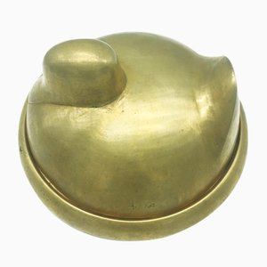Vintage Brass Duck-Shaped Box, 1970s