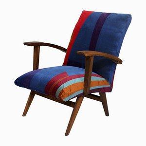 Vintage Weiß Lackierte Bugholz Esszimmerstühle im Thonet Stil, 5er Set