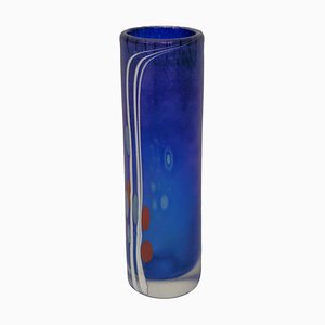 Danish Glass Vase by Finn Lynggaard, 1982