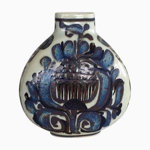 Vase Décoration Florale par Kari Christensen pour Royal Copenhagen & Aluminia, Danemark, 1960s