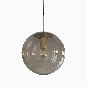 Mid-Century Big Ball Brass Ceiling Lamp from Limburg, 1970s