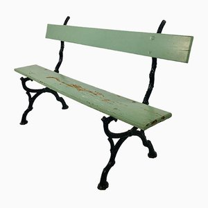 Vintage French Cast Iron Garden Bench