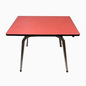 Roter Esstisch aus Resopal mit Konischen Beinen, 1950er