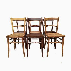 Antique Bistro Chairs, Set of 6