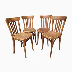 Antique Bistro Chairs, Set of 4