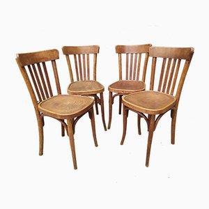 Chaises de Bistro Antique, Set de 4