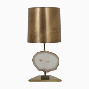 Vintage Belgian Agate Table Lamp, 1970s