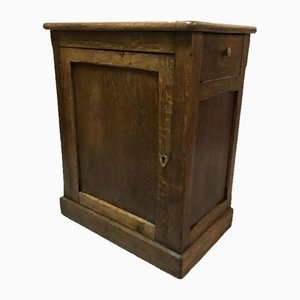 Antique Rustic Oak Jam Cabinet