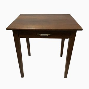 Antique Rustic Walnut 1-Drawer Table