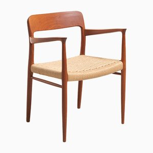 Mid-Century Teak and Paper Cord Dining Chair by Niels Otto Møller for J.L. Møllers Møbelfabrik, 1960s