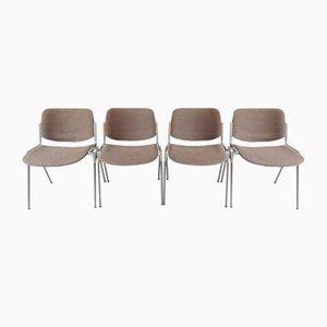 Chaises d'Appoint Modèle DS 106 par Giancarlo Piretti pour Castelli / Anonima Castelli, 1970s, Set de 4