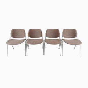 Model DS 106 Side Chairs by Giancarlo Piretti for Castelli / Anonima Castelli, 1970s, Set of 4