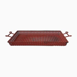 Metal Perforated Serving Tray by Mathieu Matégot for Artimeta, 1950s