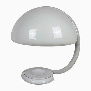 Weiße Serpente Tischlampe von Elio Martinelli für Martinelli Luce, 1970er