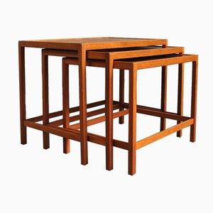 Teak Nesting Tables by Kurt Østervig for Jason Møbler, 1960s