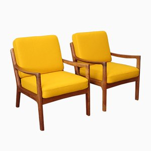 Mid-Century Teak Model 166 Senator Chairs Ole Wan Cher for Cado, 1960s, Set of 2
