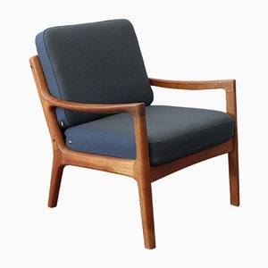 Mid-Century Model 166 Senator Chair by Ole Wanscher for Cado