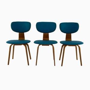 Bugholz Esszimmerstühle von Cees Braakman für Pastoe, 1950er, 3er Set
