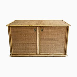 Vintage Italian Bamboo and Rattan Sideboard by Dal Vera