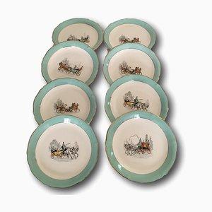 Porcelain Dessert Plates from Ceranord France, 1950s, Set of 8