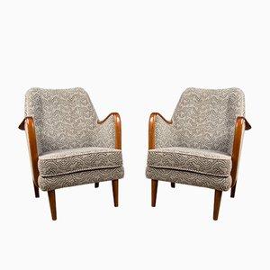 Dänische Teak und Stoff Sessel von Borge Christoffersen, 1960er, 2er Set