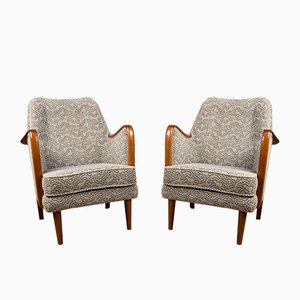 Danish Teak and Fabric Lounge Chairs by Borge Christoffersen, 1960s, Set of 2