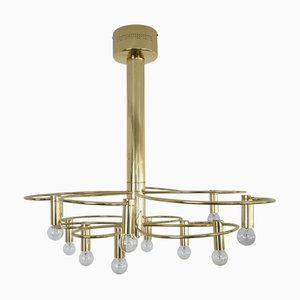 Vintage Gold Plated Ceiling Lamp by Gaetano Sciolari for Boulanger