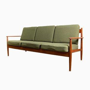 Danish Teak and Fabric Sofa by Grete Jalk for France & Søn / France & Daverkosen, 1960s