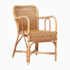 Art Deco Rattan Childrens Chair, 1930s