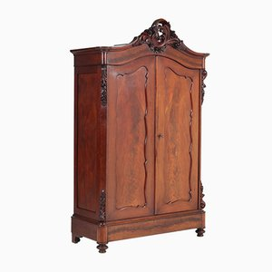 Antique Victorian Mahogany Wardrobe, 1880s