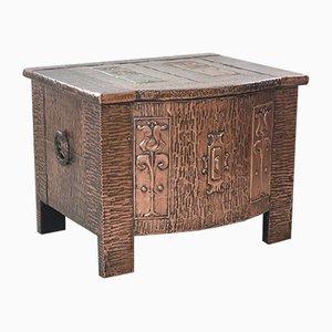 Caja antigua modernista de cobre revestida de cobre