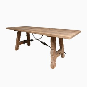 Vintage Spanish Country House Oak Dining Table
