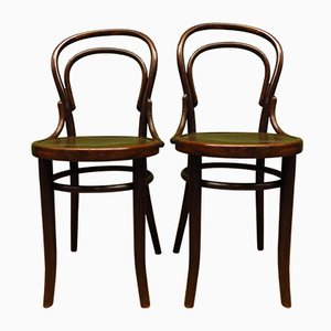Antique Bentwood No 14 Dining Chairs by Mundus & JJ Kohn for Mundus & JJ Kohn, Set of 2