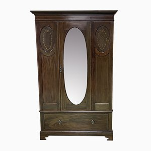 Vintage English Mahogany Wardrobe