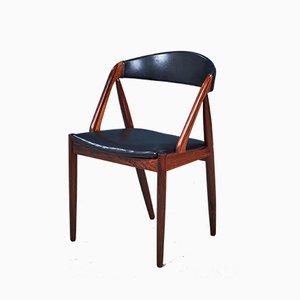 Chaises de Salon Modèle 31 Mid-Century en Palissandre par Kai Kristiansen, Set de 6
