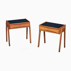 Mid-Century Danish Nightstands in Oak from Ølholm, 1960s, Set of 2