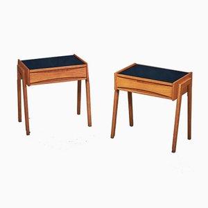 Tables de Chevet Mid-Century en Chêne de Ølholm, Danemark, 1960s, Set de 2