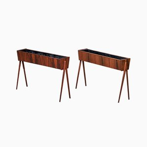 Mid-Century Danish Rosewood Indoor Planters, 1960s, Set of 2