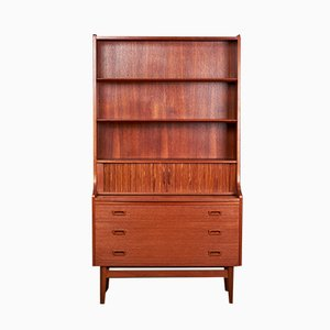 Vintage Secretaire with Bookshelf in Teak from Nexø, Denmark, 1960s