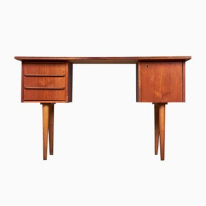 Small Mid-Century Danish Desk in Teak, 1960s
