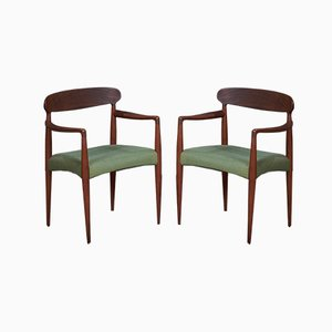 Mid-Century Armchairs in Teak by Johannes Andersen for Uldum Møbelfabrik, 1960s, Set of 2
