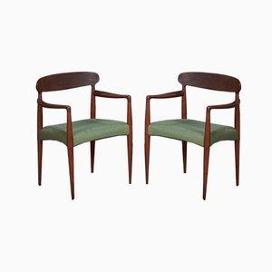 Mid-Century Armlehnstühle aus Teak von Johannes Andersen für Uldum Møbelfabrik, 1960er, 2er Set