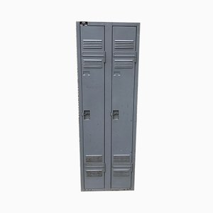 Industrial Metal Wardrobe with 2 Doors from ACIAL, 1950s