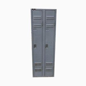 Industrieller Metall Kleiderschrank mit 2 Türen von ACIAL, 1950er