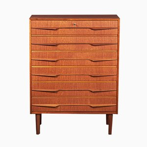 Mid-Century Danish Dresser in Teak with 6 Drawers, 1960s