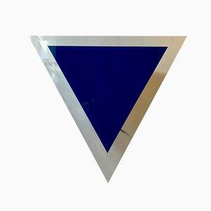 Minimalistische dreieckige dänische Wandleuchte aus Glas, 1980er