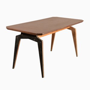 Raw Plywood Dining Table, Italy, 1950s